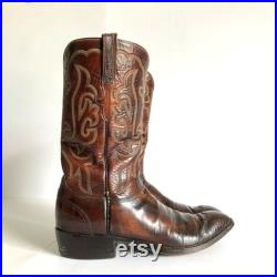 Vintage Lucchese Burnished Goatskin Women Tall Cowboy Boots Size 10 1 2 B