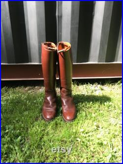 Vintage Men s Brown Leather Riding Boots Size 9 1 2 E, Vintage Riding Boots, Vintage Men s Boots, English Riding Boots