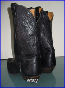 Vintage Nocona Black Cowboy Boots