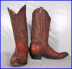 Vintage Panhandle Slim Cowboy Western Leather Lizard Skin Boots Men's 8 1 2 EE