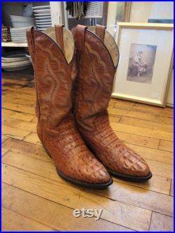 Vintage Premier Leather Western Cowboy Boots Men's Size 8 to 8.5