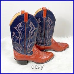 Vintage Sanders Cowboy Boots size 10.5 D