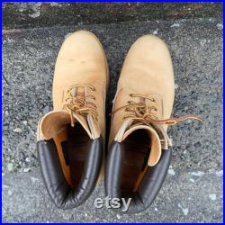 Vintage Timberland Original Yellow Boot Waterproof Leather Lace Up Work Biker Men's Size 9 M