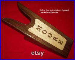 Walnut Boot Jack Bootjack Inlaid Shoe Remover Custom by JMH Limited Editions