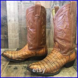Yield Vtg Caiman Cowboy Boots Mens 10 EE