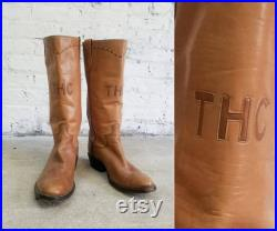 camel leather THC cowboy boots authentic handmade Paul Bond western boots 420 friendly