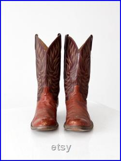 vintage Dan Post cowboy boots, men's western boots, size 10.5 D