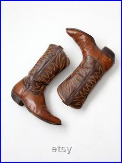 vintage Nocona cowboy boots, leather western boots, men's size 9 D