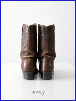 vintage leather western boots by Acme, men's size 8.5